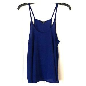 Navy blue Loose -Fitted Tank Top